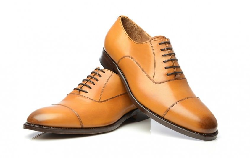 3cced568b Tan Cap Toe Oxford without Heel Cap and 6 eyelets with burnished cap toe -  No 549 by Shoepassion