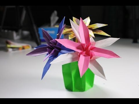 youtube pinterest origami flower paper cactus diy crafts in this video i show you how to make these cute paper cactus mightylinksfo