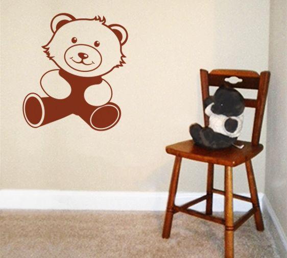 TEDDY BEARS ON A BED WHEELIE BIN STICKER PANEL