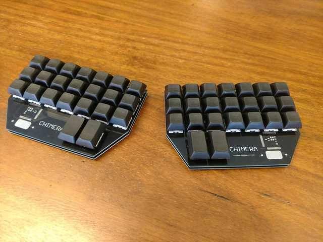 Chimera Ortho Wireless Split 40 Ortholinear Mechanical Keyboard Keyboard Post Keyboard Computer Set Keyboards