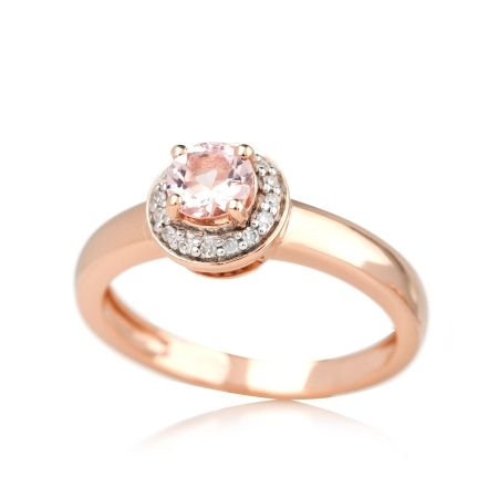 Gem Hunter 035ct Morganite Dia Ring 9ct RG Jewellery Morganite