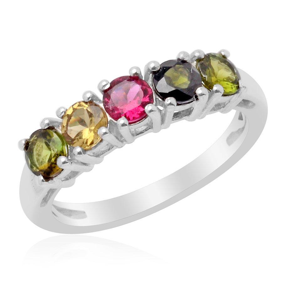 Sterling Silver PinkGreen Tourmaline Ring