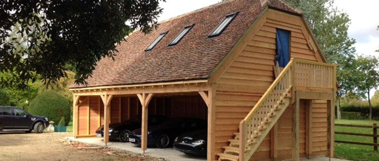 timber frame 3bay oak garages r nkh z gerendah z fah z szauna s rh pinterest com timber frame garage apartment plans timber frame garage uk