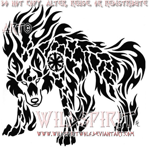 Earth And Fire Wolf Tattoo By WildSpiritWolf.deviantart