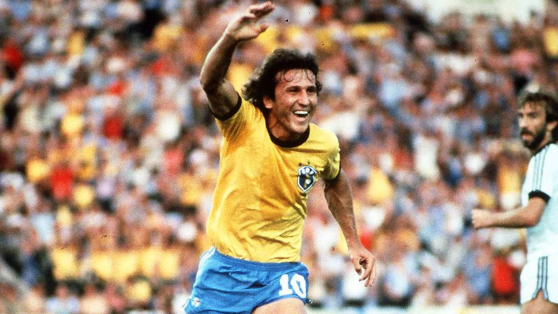 Despite Nearly Retiring From Football After Missing Out On The 1974 World Cup He Went On To Score 48 Goals In 71 Caps And H Football Images Zico World Football