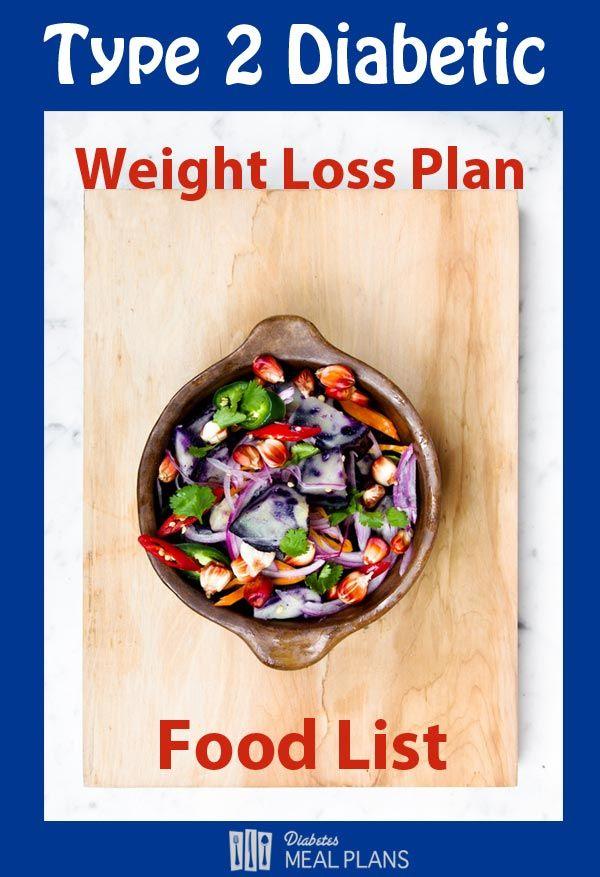 ype 2 Diabetic Weight Loss Plan Food List: