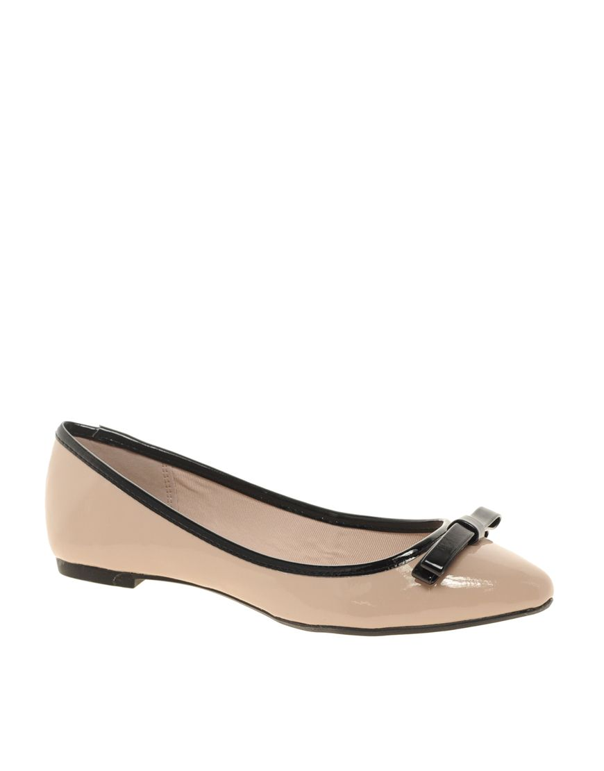 Miss KG Nikki Patent Tassel Ballet Flats ($45) liked on