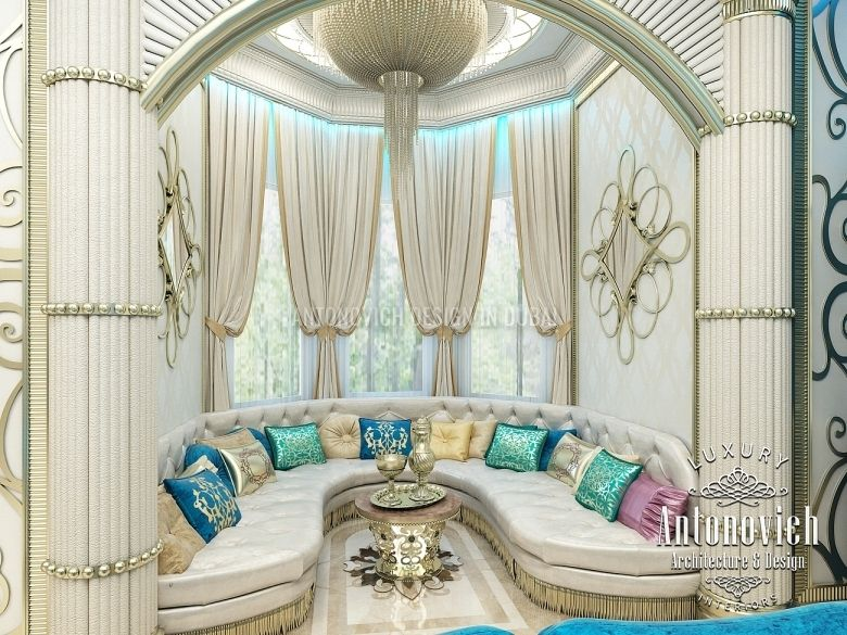 Living room design in dubai living room in oriental style for Dubai decoration interieur