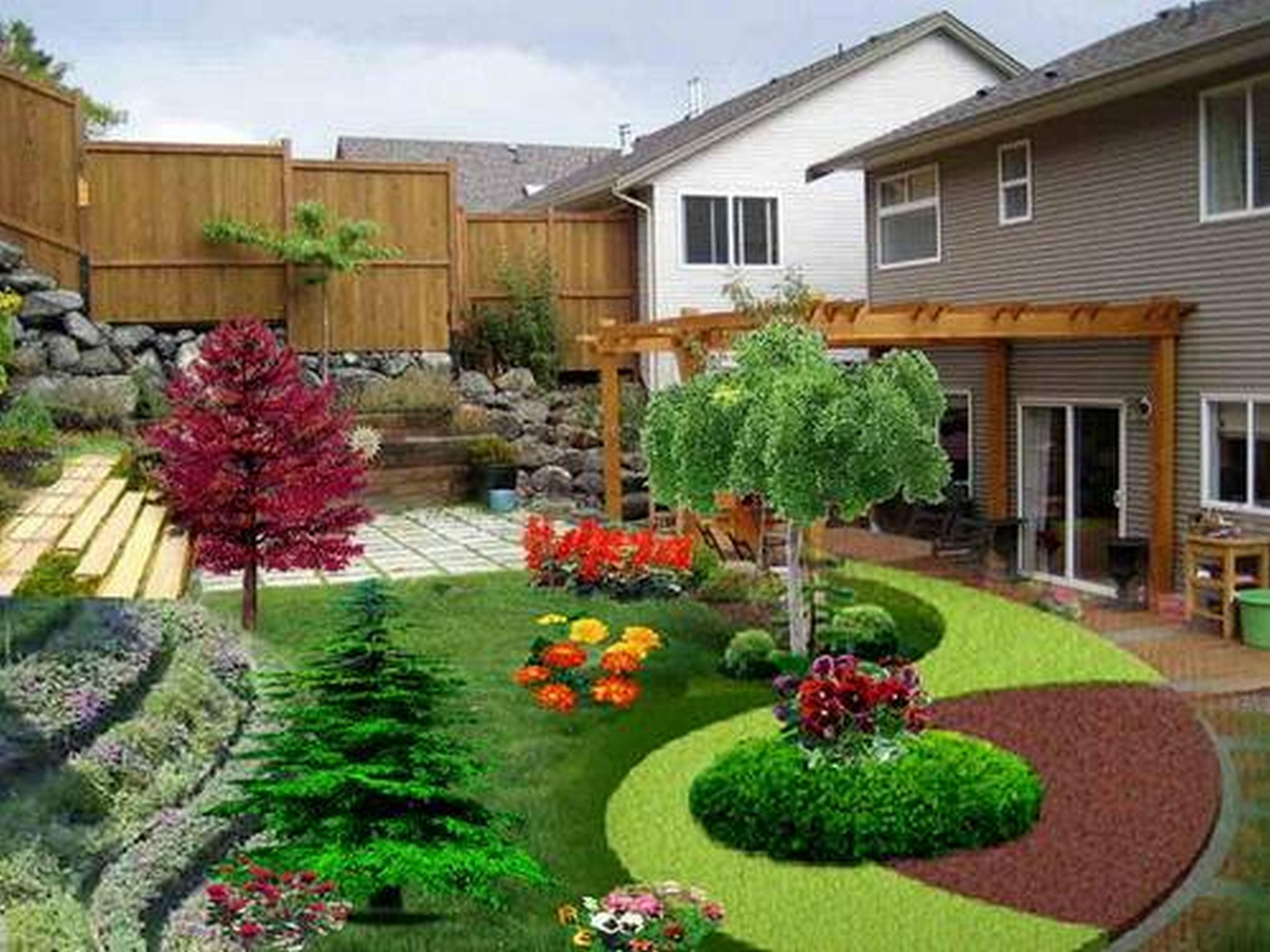 Prepossessing Low Maintenance Landscaping Ideas For Front Of House