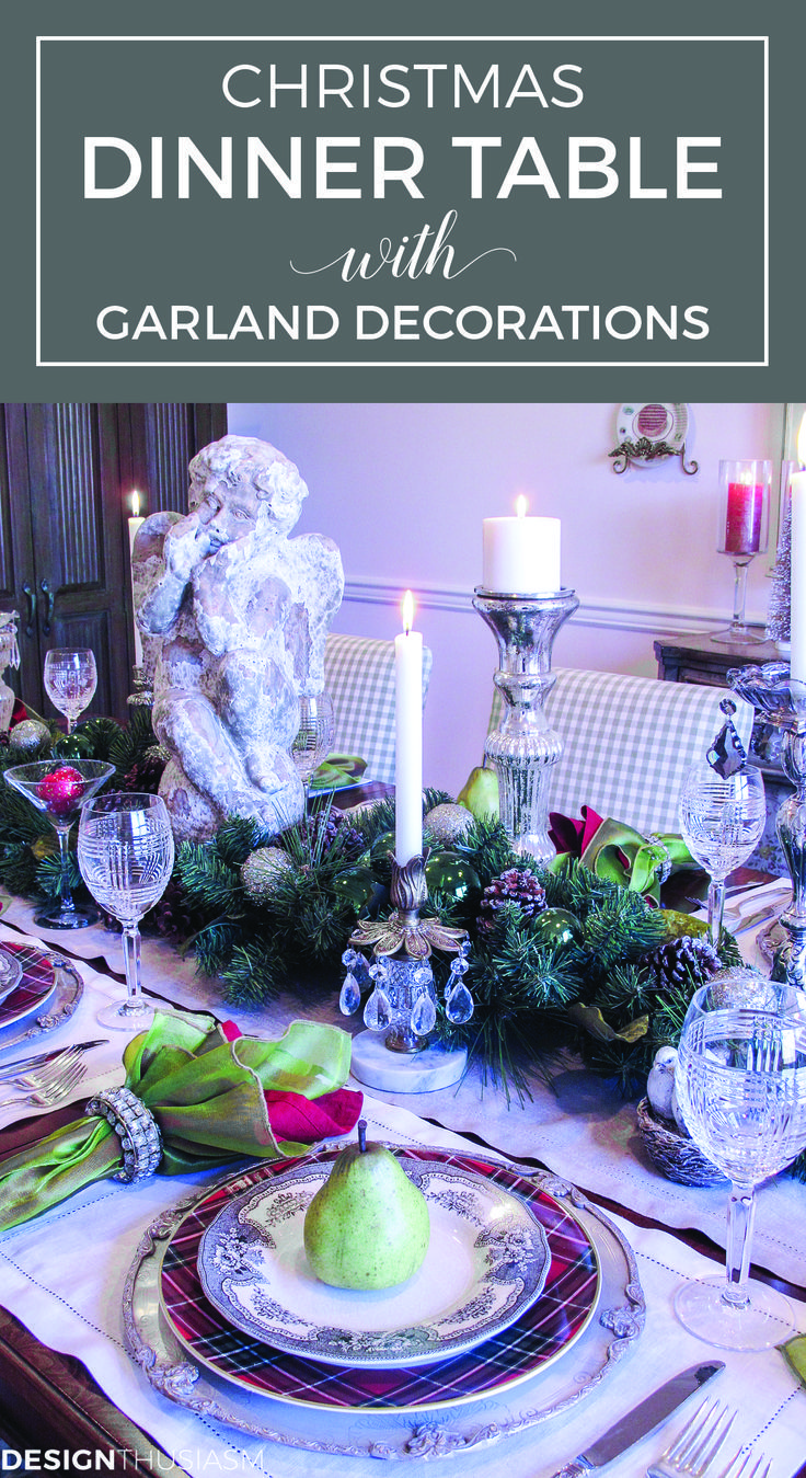 christmas dinner holiday home tour christmas tablescapes garland decoration and simple christmas