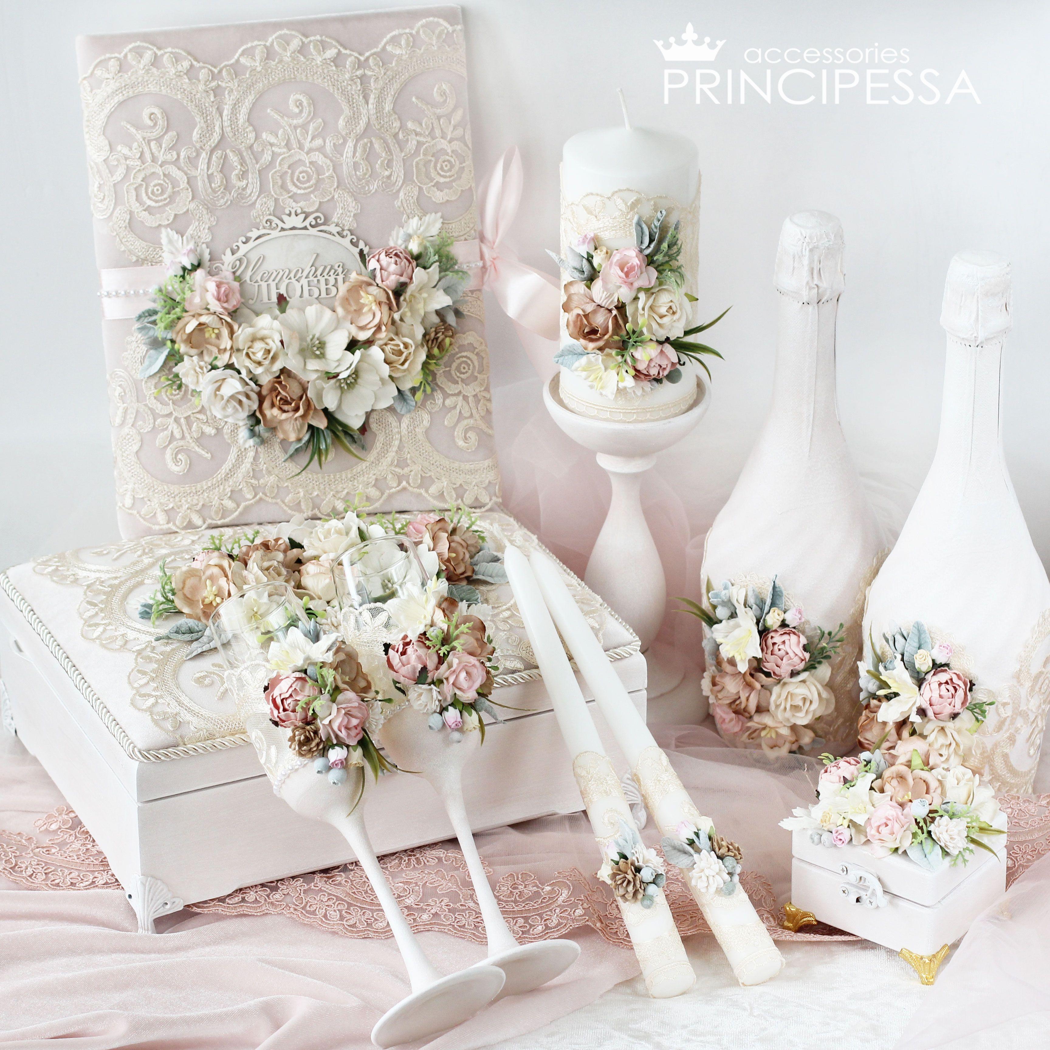 Wedding Decor Bridal Accessories Wedding Accessories Svadebnye Aksessuary Cvety Ruchnoj Rabot Diy Wedding Decorations Custom Wedding Candles Wedding Bottles