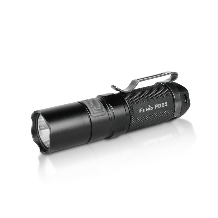 PD22 G2 210Lumens $54.95 Fenix PD22 G2 is a high-intensity flashlight with a side mode switch. With four brightness levels, one rapid strobe and a hidden SOS mode, it has a max of 210 lumen output and a 120 hour run time suitable for activities such as hiking, camping and every day carrying. #Fenix #flashlights #Lumens #LED #PD22 bright CREE LED quality flashlights tactical flashlights #ledlenser #thrunitei #flashlight #gadget #olight #survival #torch #tactical #military #tactical