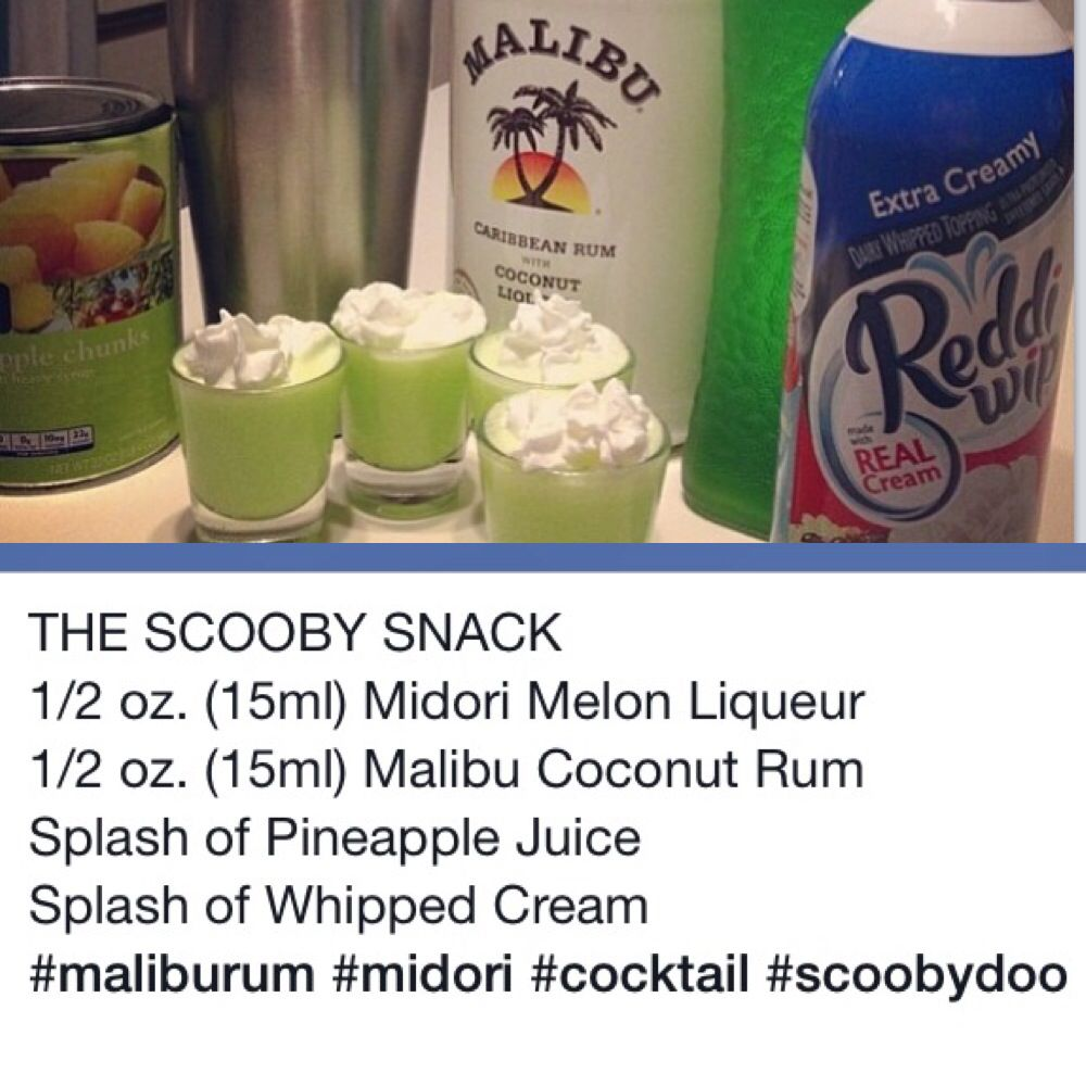 Pin By Tara Riden On Dranks Shots Alcohol Recipes Scooby Snack Drink Scooby Snack Shot