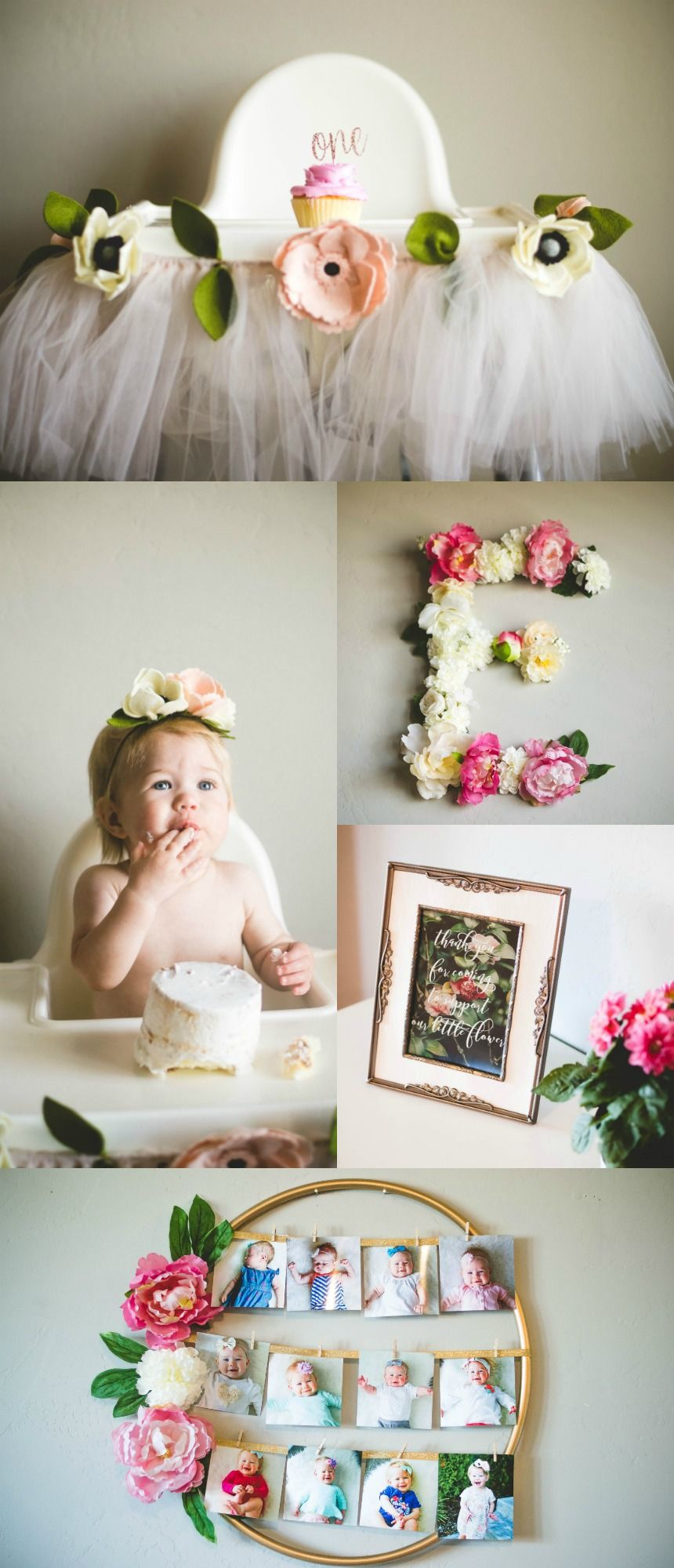 Ella's Floral First Birthday Party #firstbirthdaygirl