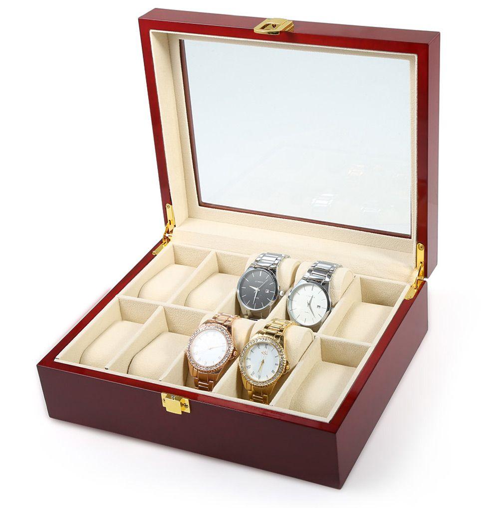 [Free Shipping] Buy Best 2017 New Fashion 10 Grid Wooden Watch · Watch  Storage BoxStorage ...