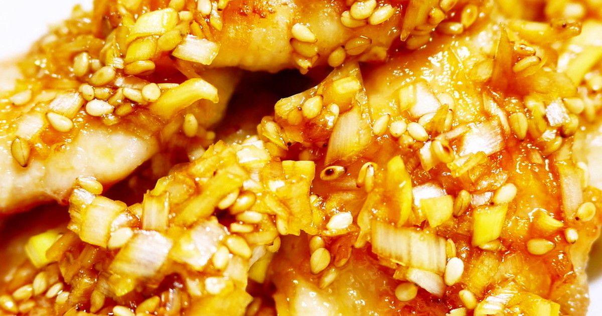 鶏胸肉油淋鶏(ユーリンチー) by ほっこり~の