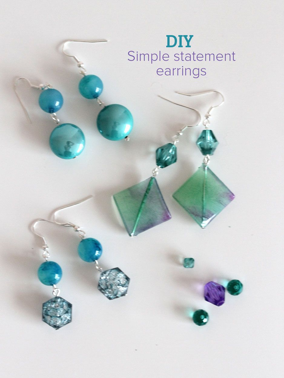 We Ve Delved Back Into Our Jewelry From Home Bead And Tool Kit To Bring You Another Simple Tutorial Today Made These Super Statement Earrings
