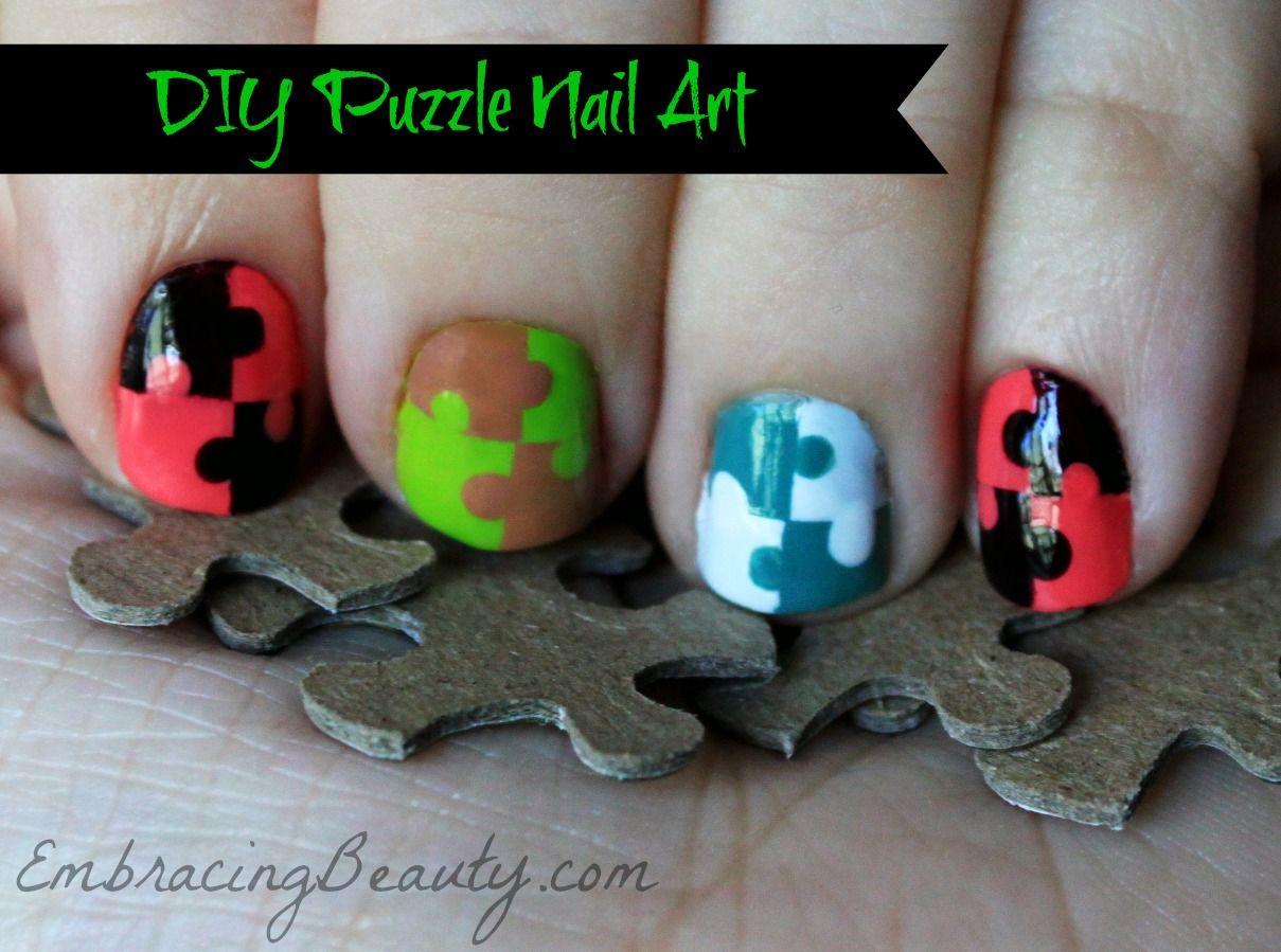 Color Block Puzzle Nail Art with Sally Hansen #IHeartMyNailArt ...