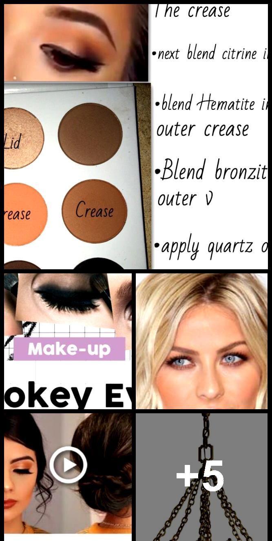 Photo of PROM Makeup & Hair # 1   Bronze Eye Makeup   Medium length hair updo …