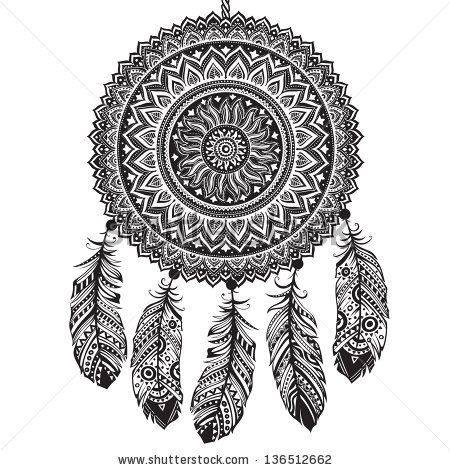 Native American Dreamcatcher Coloring Pages Indian dream catcher
