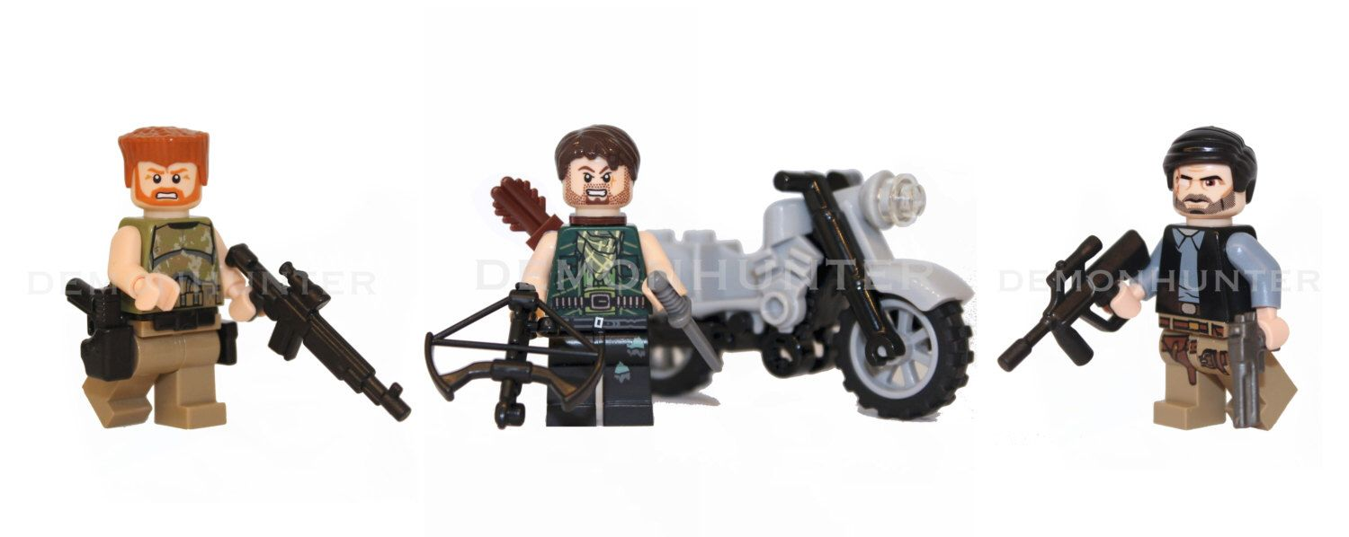 Walking dead lego daryl the walking - Custom The Walking Dead Minifigures 3 Pack Abraham Ford Daryl Dixon The Governor New