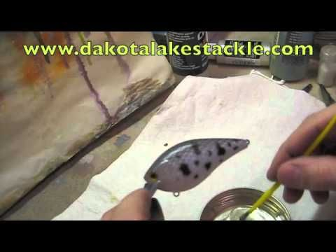 Using two part epoxy for a clear coat on crankbaits | DIY Craft