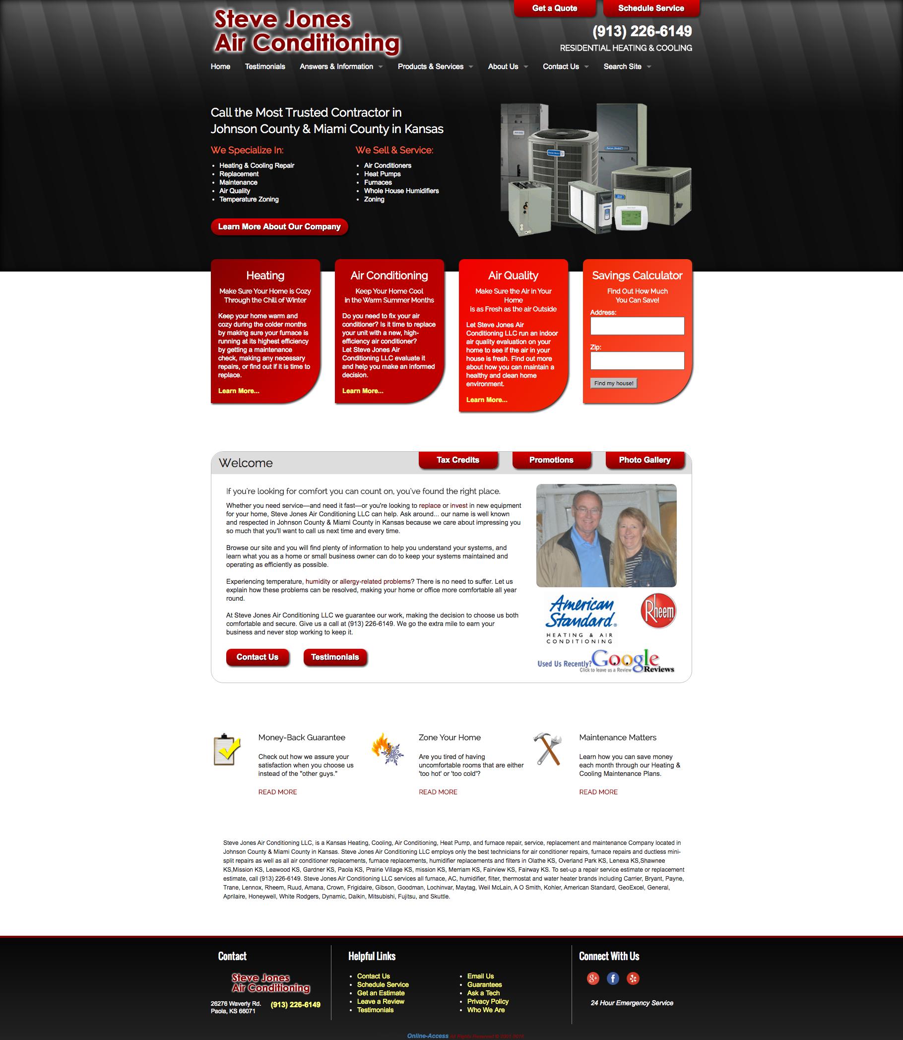 Steve Jones Air Conditioning Paola Ks Heating And Air