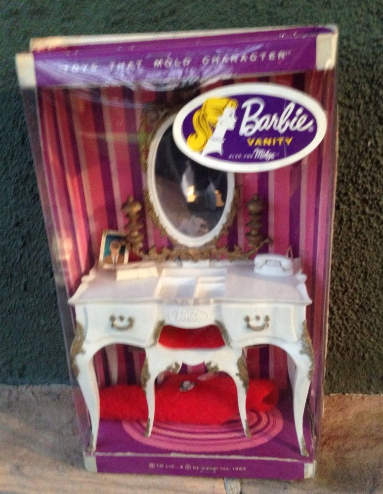 Barbie Bedroom In A Box: Barbie Susy Goose Vanity Mint In Box