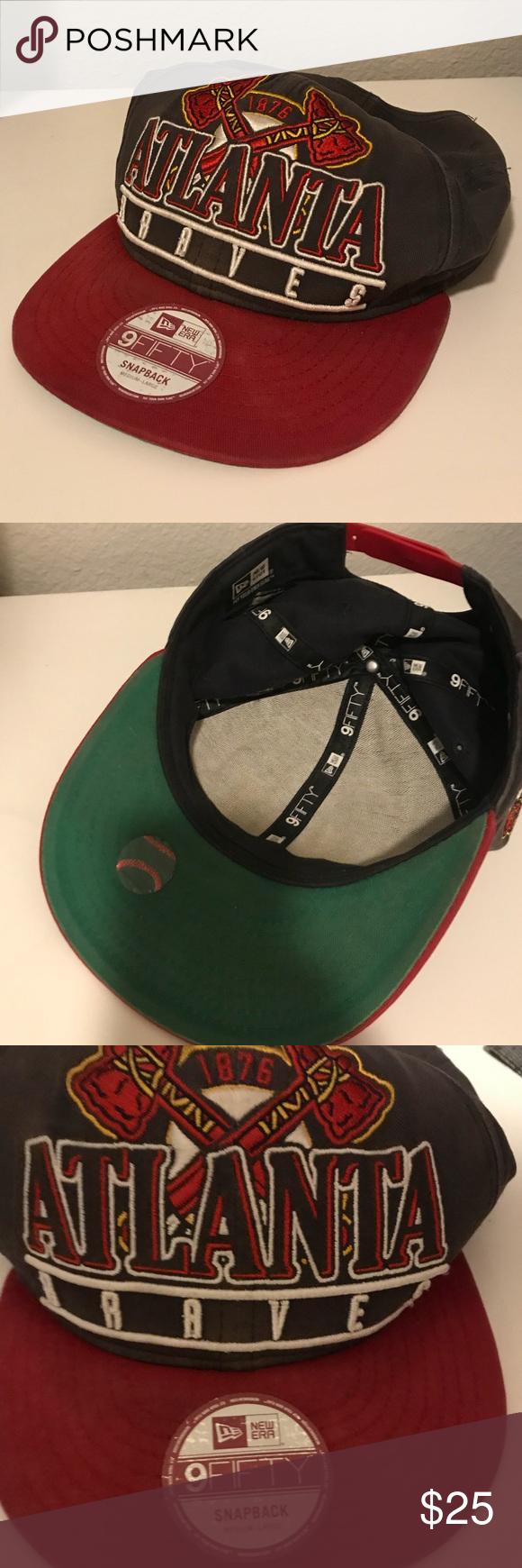 Vintage Atlanta Braves Hat Throwback Vintage Braves Hat Sticker On New Era Accessories Hats Atlanta Braves Hat