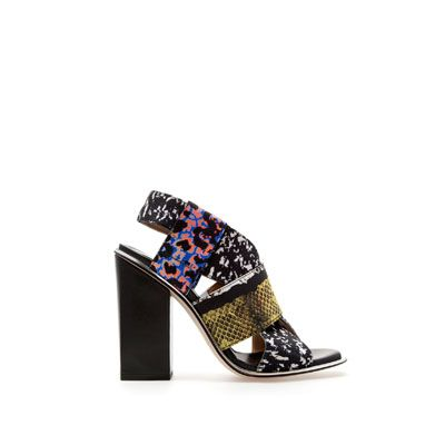 Image 1 of STRETCH COMBINATION PRINT SANDALS from Zara