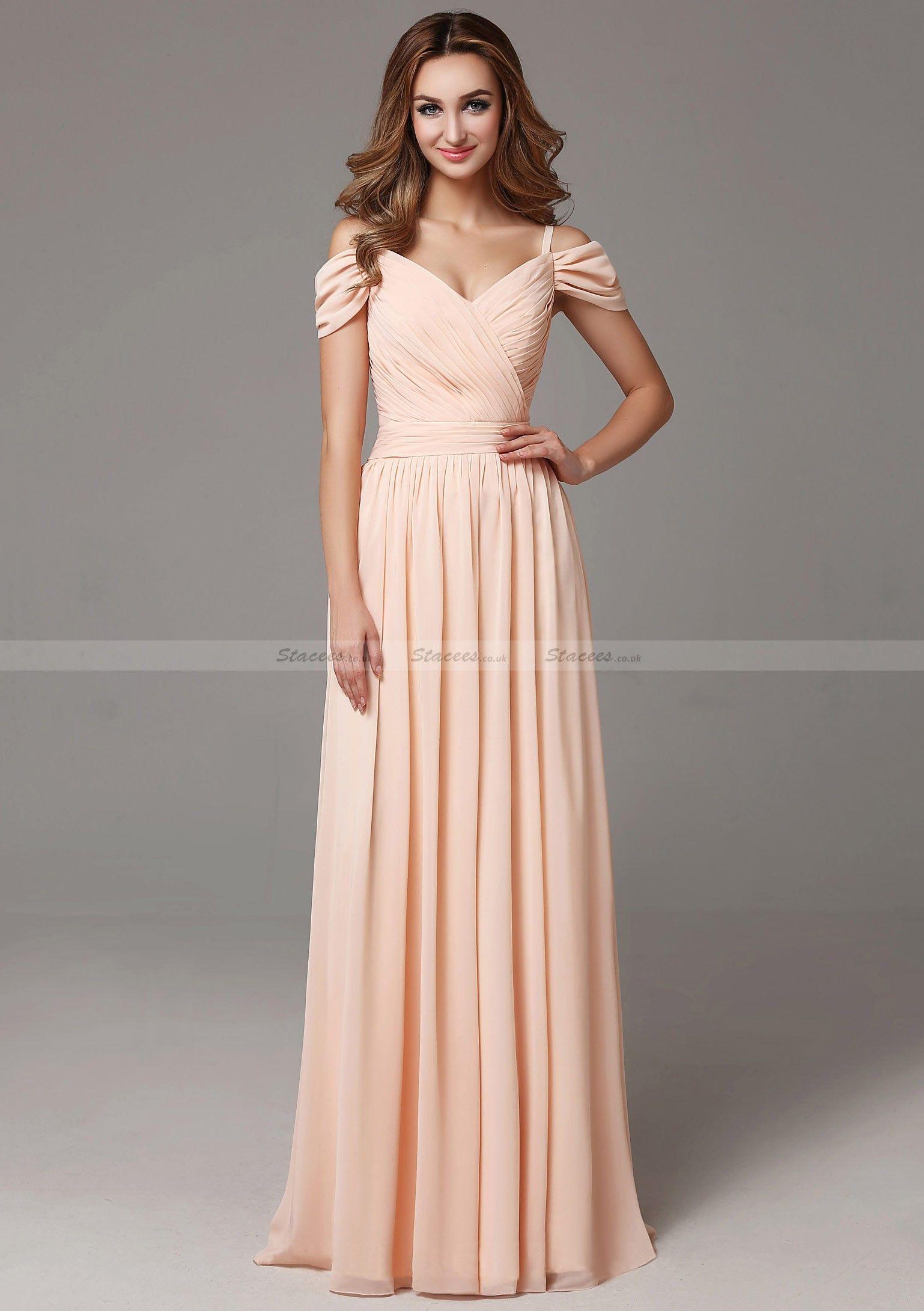 Chiffon Bridesmaid Dress ALine/Princess VNeck Long/Floor