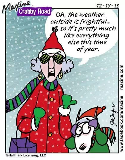 Bratty kids, stupid Christmas commercials, no parking and carolers ...