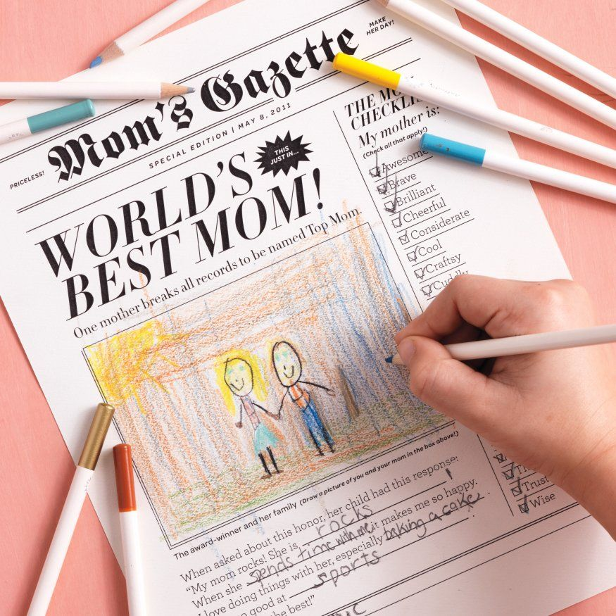 Mothers Day Newspaper Newspaper Template And Free Printable