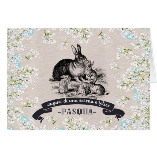 Buona pasqua happy easter cards in italian bunny images easter buona pasqua easter greeting cards in italian with a vintage bunnies image matching cards m4hsunfo