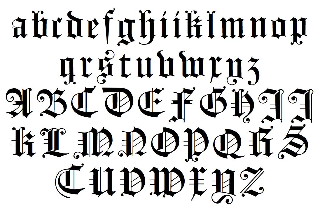 английский готический шрифт фото
