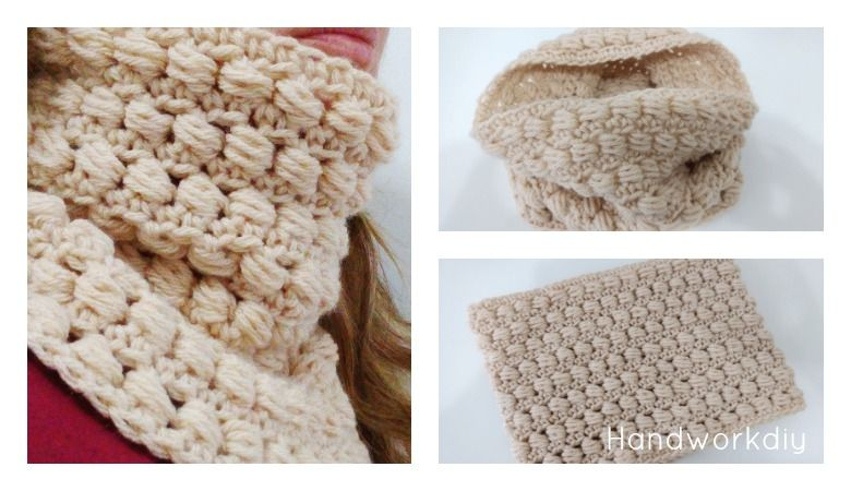 Cuello crochet paso a paso | HandworkDIY | Scarves patterns ...