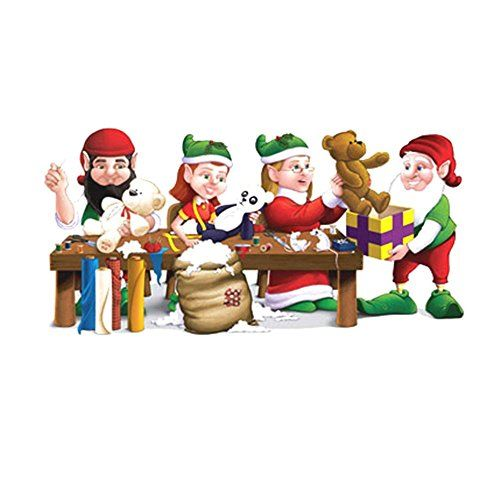5ft Santa Elf Workshop Wall Mural Holiday Christmas Scene Setter Photo  Backdrop Most Sold Item * Part 66