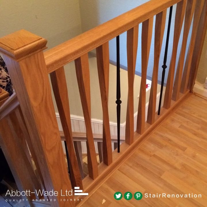 Best Oak Chamfered Spindles With Abbott Wade S Black Regal 640 x 480