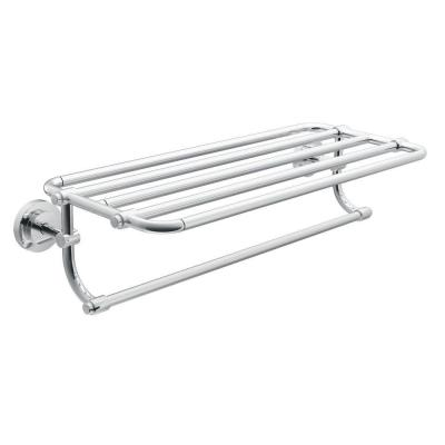 Moen Iso 26 95 In W Towel Shelf In Chrome Dn0794ch The Home Depot Towel Shelf Bathroom Shelves For Towels Hotel Towels