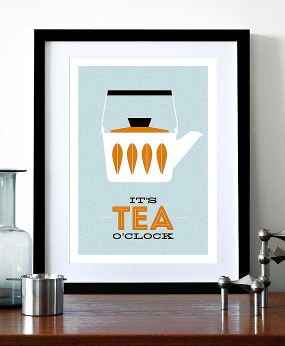 Cathrineholm poster stampa metà secolo moderno tè di caffè | Design ...
