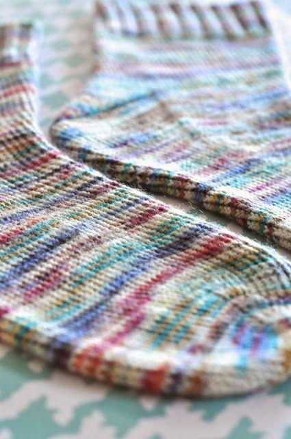 Little Bit Funky: How To Knit Socks {A B - Diy Crafts