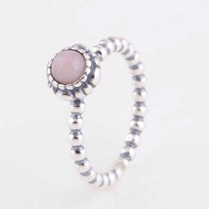 Original 925 Sterling Silver Vintage Ring Pink Opal ...