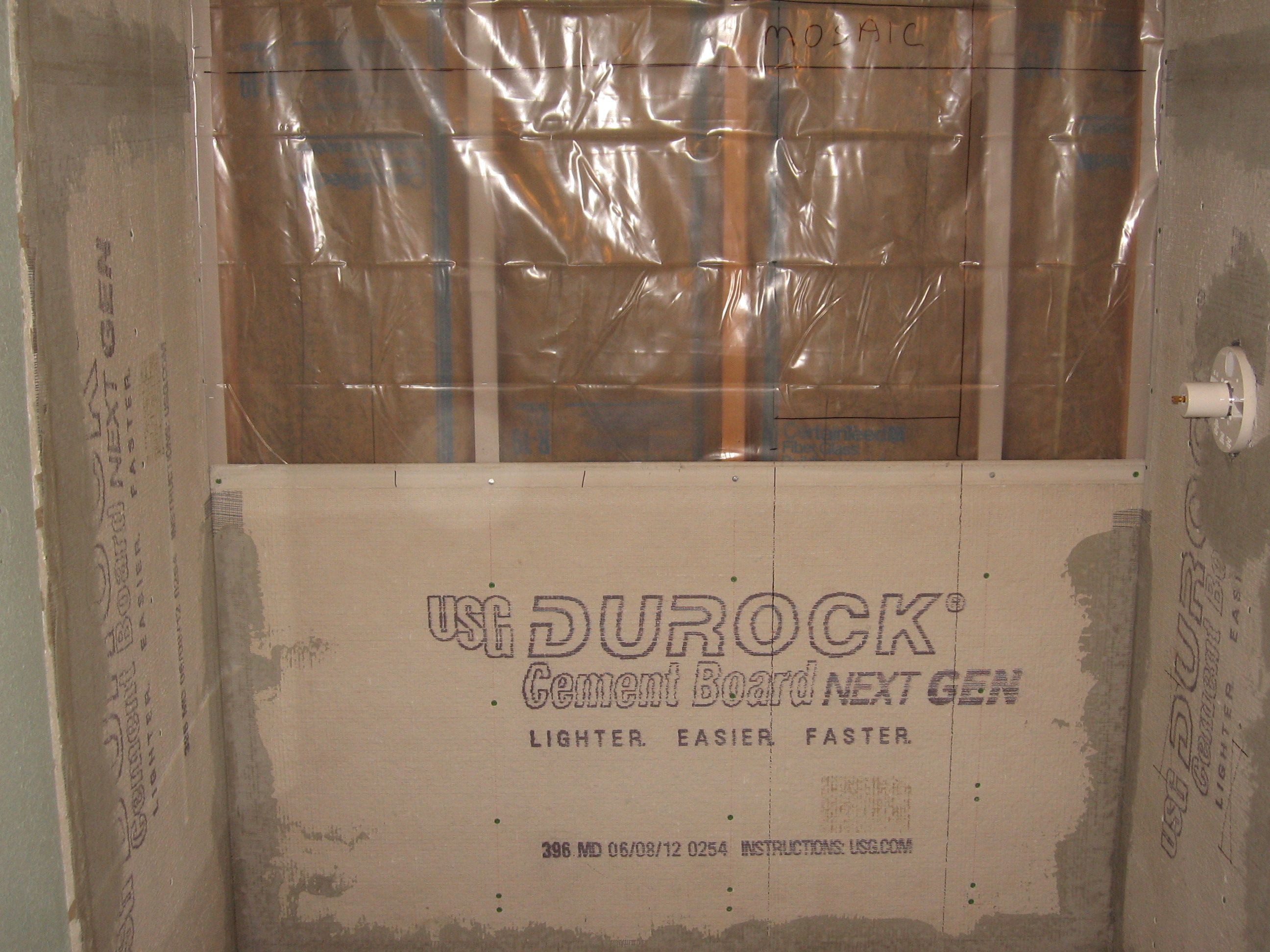 tiling a shower | Conventional Shower Construction with Durock ...