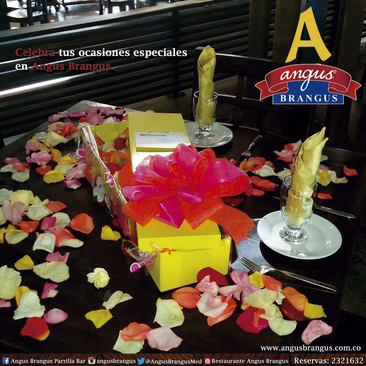 Angus Brangus es el mejor restaurante para celebrar ocasiones especiales, lugar cómodo, buena atención y excelente comida. www.angusbrangus.com.co   #AngusBrangus #Medellín #Cena #Pareja #Novios #Restorando