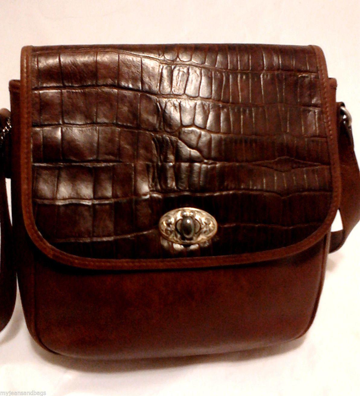 Vintage Fossil Leather Shoulder Bag, Crossbody Purse, Brown