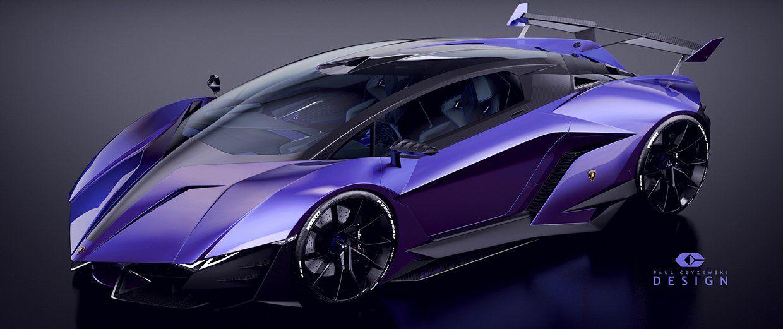 lamborghini concept car resonare extrme by pawel czyzewski