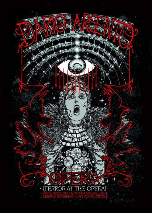 Posters for Dario Argento's horror films by Malleus Rock Art Lab - Terror at the Opera