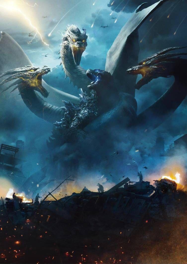 Godzilla Vs King Ghidorah 1991 Phone Wallpaper Moviemania Godzilla Vs King Ghidorah Original Godzilla Kaiju Monsters