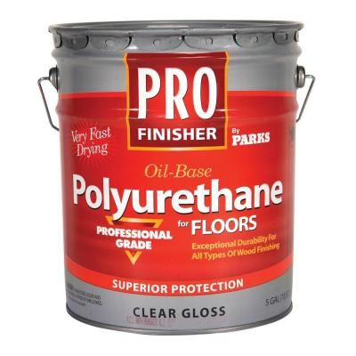 Rust Oleum Parks Pro Finisher 5 Gal Clear Gloss 450 Voc Oil Based Interior Polyurethane For Floors 130512 Rustoleum Polyurethane Floors Oils