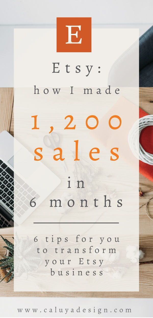 Esty: How I Sold 1200 Listing in 6 Months (6 Important Tips) by Caluya Design